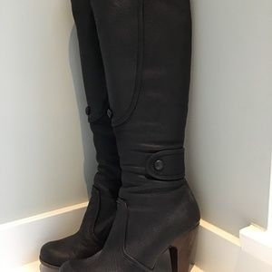 Chie Mihara Tall Leather Heeled Boots